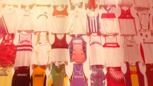 Athletes' vests display